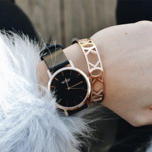 reloj mujer oro rosa estilo minimalista